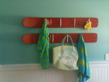 Vintage Waterski Coat Rack - Others Available. Great for a beach house!